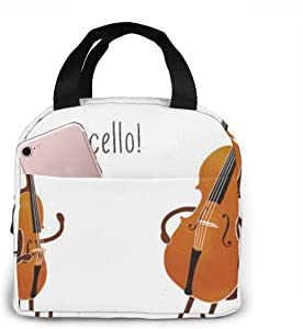 Outdoor Travel Picnic Lunch Bag - Cello! Neoprene Lunch Box Keeping Food And Drink Cool Or Warm For Hours