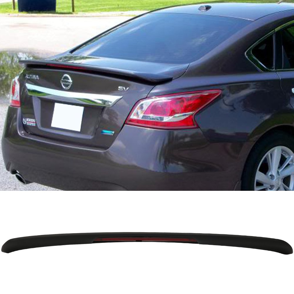 Trunk Spoiler Fits 2013-2015 Nissan Altima | OE Style Matte Black ABS Car Exterior Trunk Rear Wing Tail Roof Top Lid by IKON MOTORSPORTS | 2014
