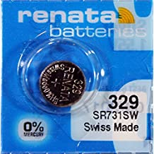 1PC Renata 329 SR731SW 0% Mercury Silver Oxide 1.55V Coin Cell Batteries - Swiss Made