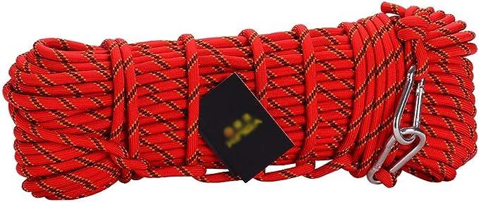 Cuerda de escalada roja exterior diámetro -10 mm, longitud ...