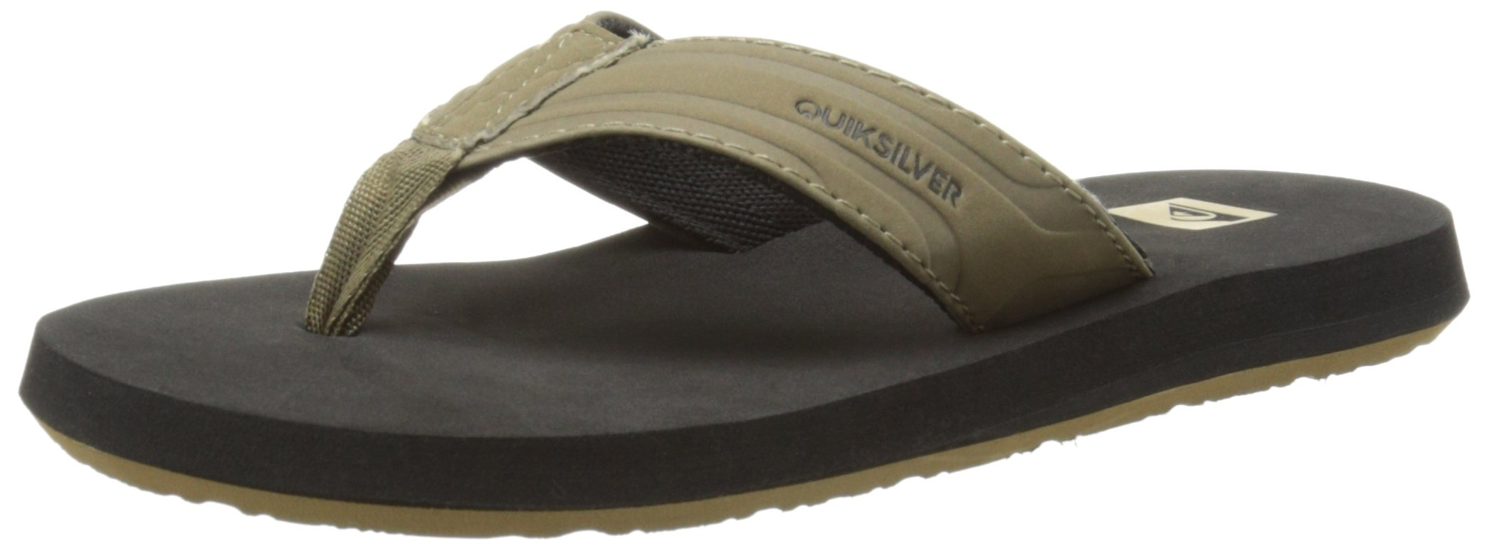 Quiksilver Monkey Wrench Youth Sandal (Toddler/Little Kid/Big Kid), Tan Solid, 10 M US Toddler