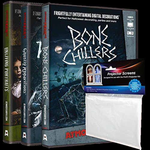 AtmosFEARfx Ghostly Apparitions - Unliving Portraits - Bone Chillers Bundle Halloween Projects Effects DVD ()