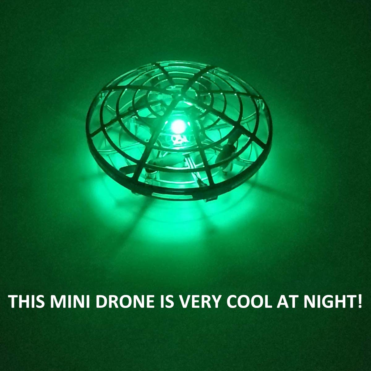 Mini Drone for Kids Beginner Hand Controlled,UFO Flying Ball Toys with 360/° Rotating Hovering and LED Lights,Quadcopter Drone Toy Indoor Outdoor,RC Helicopter Boys Girls St Patricks Birthday Gift Jupitaz