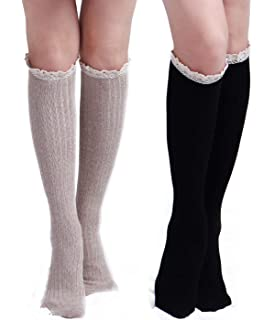 1310337646e The Original Button Boot Socks with Lace Trim Boutique Socks by ...