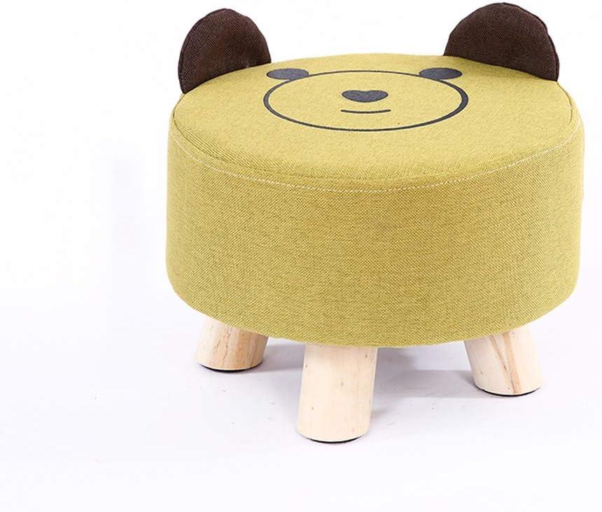B07TSJ9QYS WRZH Cloth Stool Creative Living Room Sofa Stool Simple Cartoon Shoe Bench Home Bench Fashion Children Stool (Color : Green) 61ivYHrulDL