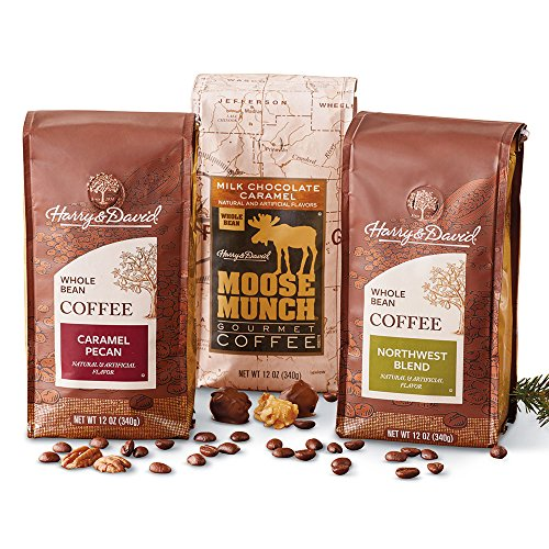 Harry & David Favorite Whole Bean Coffee 3-Pack, 12 Ounces (3 Bags)