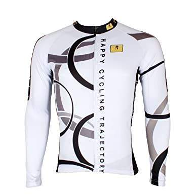 ILPALADINO Men s Cycling Jersey Long Sleeve Biking Shirts Breathable  Circles ... bdd60cdba