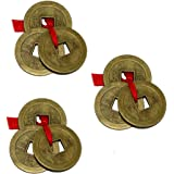 Divya Mantra Chinese Feng Shui I-Ching Amulet Coins Set of 3