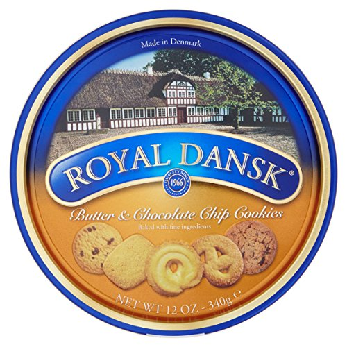 Royal Dansk Danish Butter and Chocolate Chip Cookies, 340 g