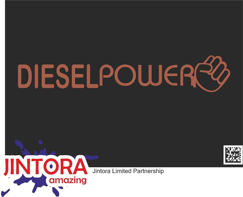 Amazon Jintora ステッカー カーステッカー Diesel Power ディーゼルパワー 210x40 Mm Jdm Die Cut 車 ウィンドウ ラップトップ ウィンドウ 茶色 ステッカー デカール 車 バイク