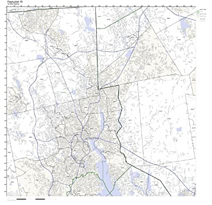 Pawtucket Zip Code Map.Amazon Com Pawtucket Ri Zip Code Map Not Laminated Home Kitchen