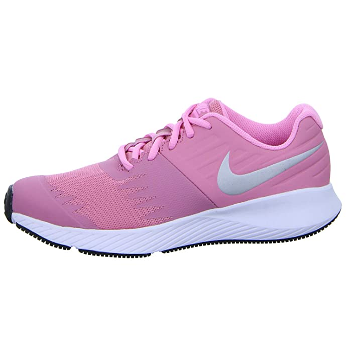 Nike Star Runner (GS), Zapatillas de Running para Mujer, (Elemental Metallic Silver-Pink 601), 37.5 EU: Amazon.es: Zapatos y complementos