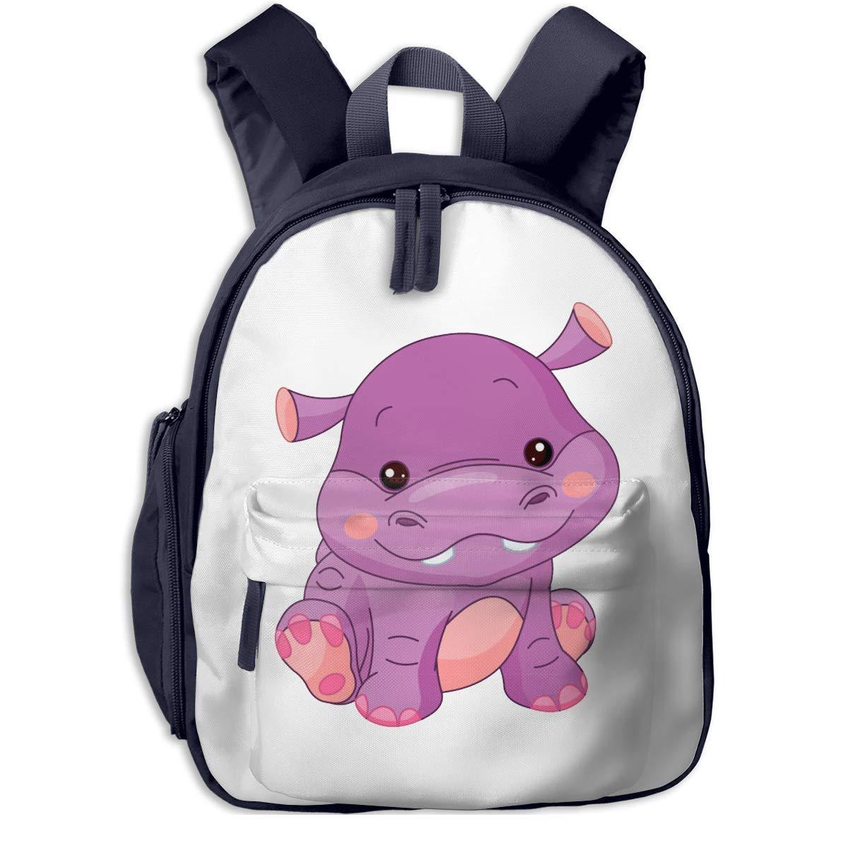Sd4r5y3hg School Backpack for for for Girls Boys, Kids Cute Cartoon lila Hippo Cartoon Backpacks Book Bag B07MGLC7XN Daypacks Moderner Modus 8ca489