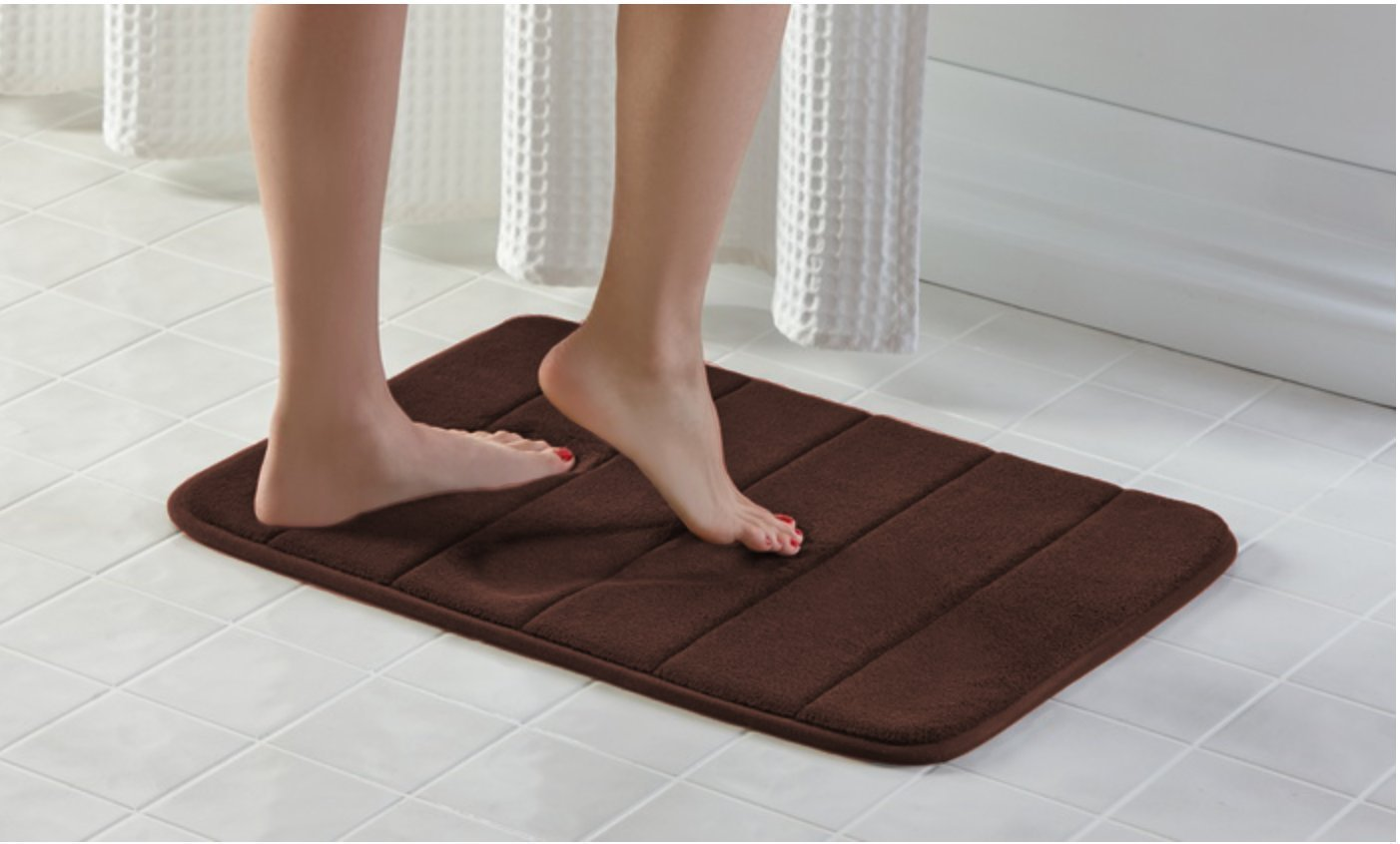 Townhouse Memory Foam Bath Mat Soft, Luxury Cushioned Pad for Bathroom Floors ,Non-Slip, Absorbent, Baby Shower Mats , Cushions and Dries Feet,Bathroom Rug Carpet – Brown 17X24 Kanma Inc.