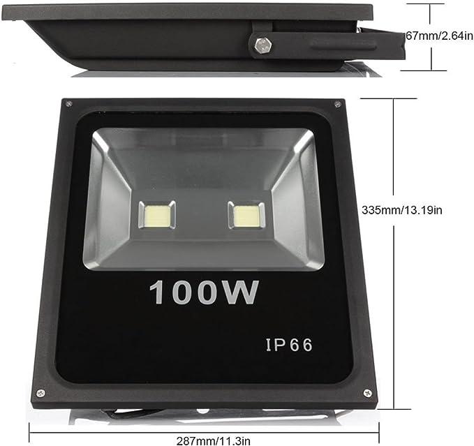 FOCO Proyector LED RGB 100W con Mando Remoto- Exclusivo con ...