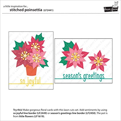 ghdonat.com Lawn Fawn Stitched Poinsettia and Seasons Greeting ...