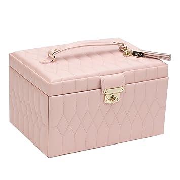 Amazoncom WOLF 329715 Caroline Medium Jewelry Case Rose Quartz