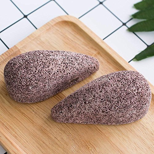 Stone Soft (Earth Lava Pumice Stone for Foot, Horsky SPA Soft Healthy Foot Callus Remover for Dry Hard Dead Skin Cracked Heel in Feet and Hands Skin Exfoliator Scrubber Drops Shape)