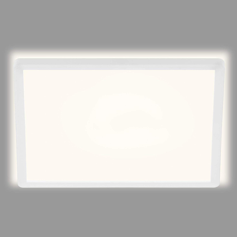 LED Deckenleuchte LED Panel 12 Watt 1.300 Lumen Wei/ß-Schwarz Briloner Leuchten LxBxH Deckenstrahler 4.000 Kelvin 295x295x55mm Deckenlampe
