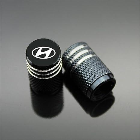Tapacubos de válvula Hyundai para coche, moto, camión, bicicleta y bicicleta, aluminio