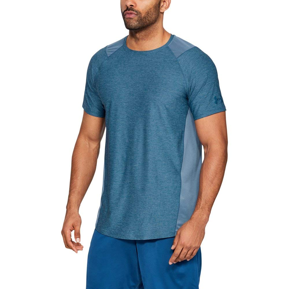 Under Armour Men's MK1 Short Sleeve T-Shirt, Thunder (407)/Petrol Blue, Large by Under Armour