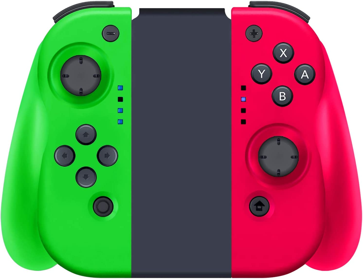 YHT Wireless Joy Con Controller for Nintendo Switch, Replacement Joy Pad Controllers Compatible for Nintendo Switch Console,Comfortable Handheld Gamepad(Pink&Green)