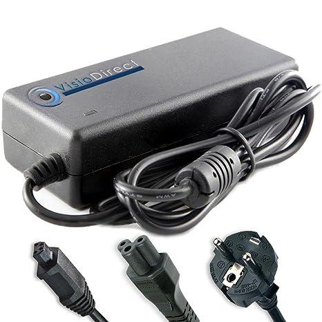 Visiodirect Adaptador cargador para ordenador portatil ...