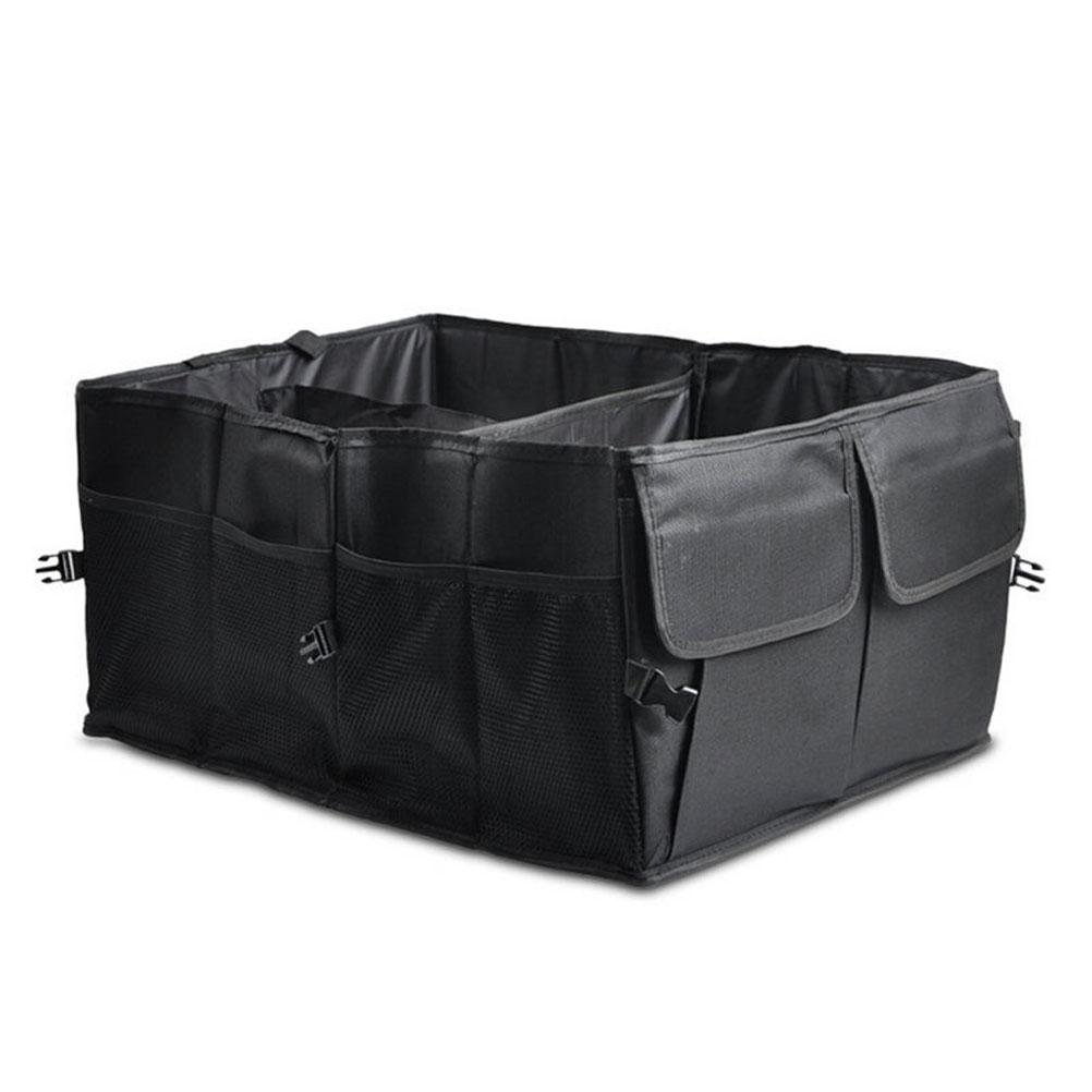 MQYH@ Car Boot Organiser / Home Organiser, Car Boot Bag, Strong, Rugged Trunk Organizer, Shopping Bag, Home Organisation, Foldable Storage , Accessories Organiser Black