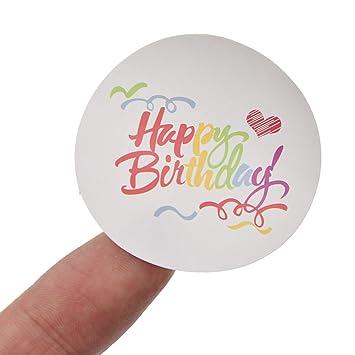 Amazon.com: Multicolour Carta Feliz cumpleaños – Pegatina ...
