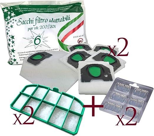 Bolsa Microfibra Made in Italy + ambientadores + filtro Rejilla ...