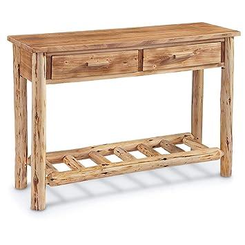 Enjoyable Castlecreek Log Sofa Table Spiritservingveterans Wood Chair Design Ideas Spiritservingveteransorg