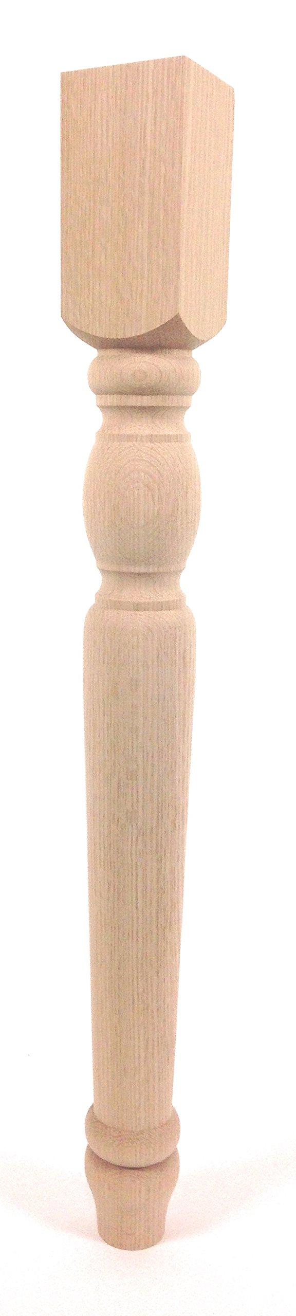 Narrow Cheshire Dining Table Leg - 29'' Tall x 3'' Wide (Red Oak) by Highland Manor Wood Products