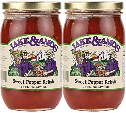Jake & Amos Sweet Pepper Relish / 2 - 16 Oz. Jars by Jake and Amos