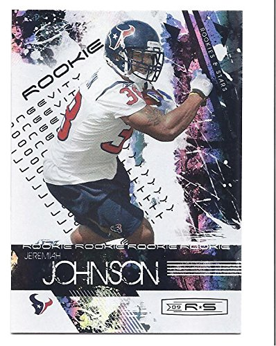 JEREMIAH JOHNSON 2009 Donruss Rookies & Stars #160 Longevity Silver Parallel ROOKIE Card RC #45 of only 99 Made! Houston Texans BC Lions (160 Rookie Football Card)