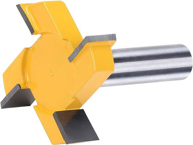 CNC Spoilboard Surfacing Toupie 1//2 pouces Shank carbure Inclin/é Outil Fraise Router Bit Set Bits Router For bois Boiseries Outils de coupe