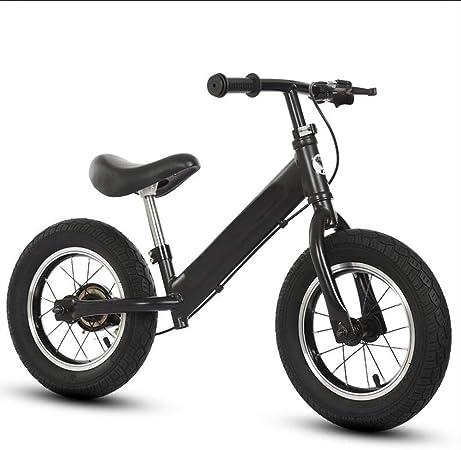 YJFENG-bicicleta de equilibrio Bicicleta Sin Pedales Aleación De Aluminio Aprendiendo A Andar En Bicicleta con Freno Agarre Antideslizante Caja Fuerte,2 Colores (Color : Black, Size : 87x55cm): Amazon.es: Hogar
