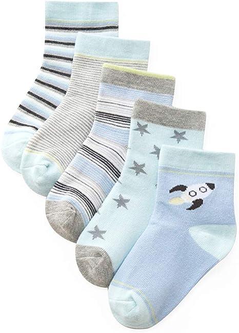 Bambine Calzini Neonato Infantile Calze 1-12 Anni TMEOG 5 Paia Ragazza del Bambino Calzini di Cotone