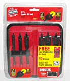 "Vermont American Black Max 6-Piece 6"" Spade and 3-Piece 4"" Stubby Spade Bit Set"