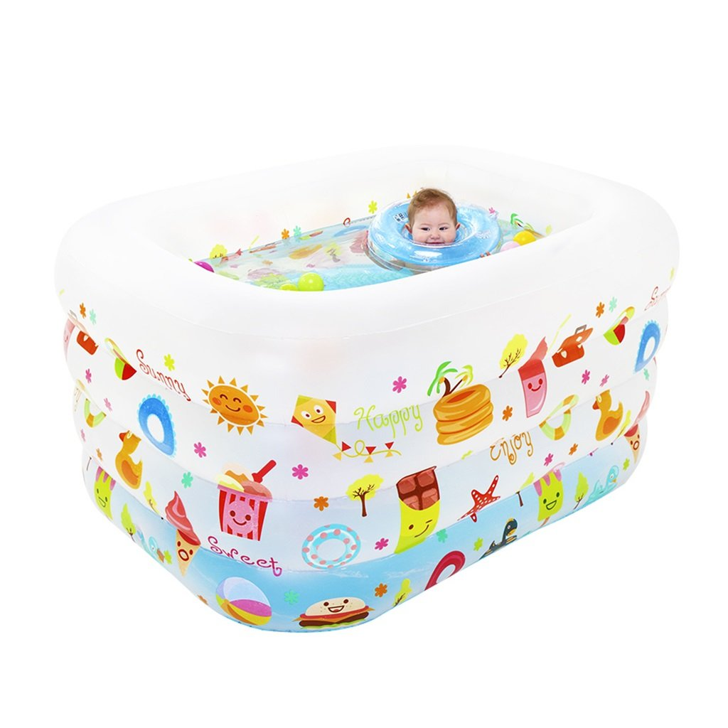 Bathtubs Freestanding Colorful Baby Pool Cartoon Swimming Pool Play Pool (for Age 0-3 Years Old)