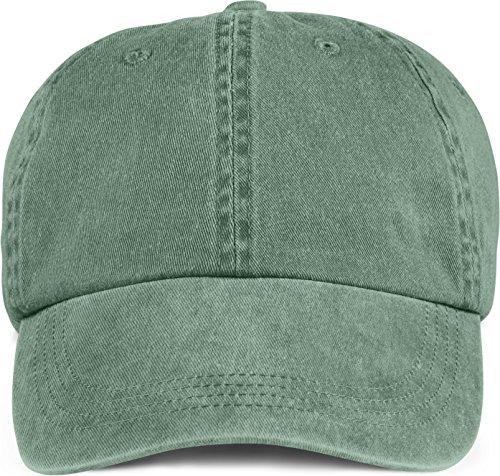 Anvil 145 6-Panel Pigment-Dyed Cap - Ivy - One Size