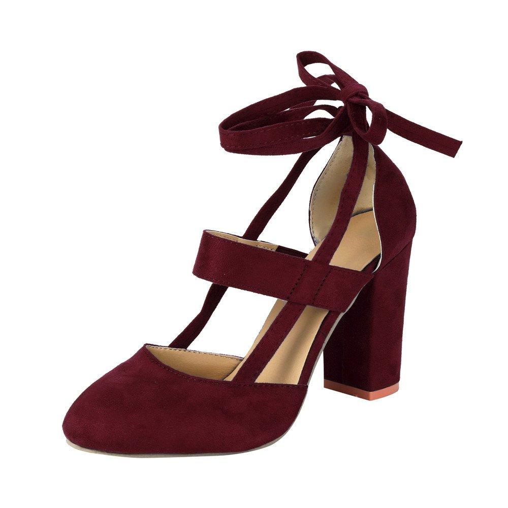 Liquidación! Covermason Moda Mujer Sandalia de tacón de aguja Sandalia de tacón de tobillo para la fiesta de la boda(39 EU, rojo): Amazon.es: Ropa y ...