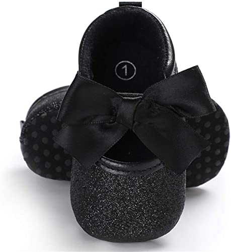 Baby Girls Mary Ballet Jane Flats Soft Sole Infant Slip On Moccasins Bowknot Sparkly Toddler Princess Dress Shoes /…