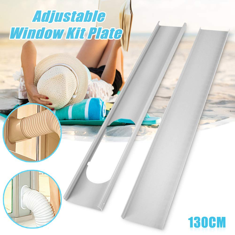 yunbox299 Window Slide Kit Plate,Window Vent Adapter, 2Pcs Window Slide Kit Plate or 1Pcs 5.9 Inch/15 cm Window Adapter Hands Tool for Portable Air Conditioner 2# by yunbox299 (Image #1)