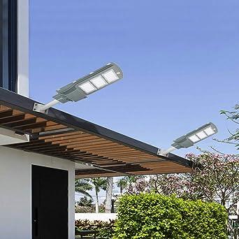 Ouhigher - Lámpara solar para carretera, 60 W, LED, detector de movimiento, resistente al agua, para iluminación al aire libre, iluminación de carretera, aparcamiento exterior, color blanco: Amazon.es: Iluminación