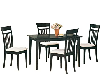 Coaster 4430 Home Furnishings 5 Piece Dining Set, Cappuccino