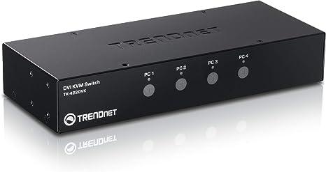 TRENDnet TK-422DVK - Kit de Switch KVM DVI de Cuatro Puertos ...