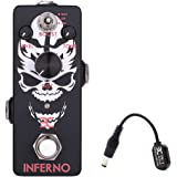 EX-Inferno Metal Distortion Pedal Mini Format for Shrill Metal Leads Deep Punchy Distortion or Total Metal Chunk