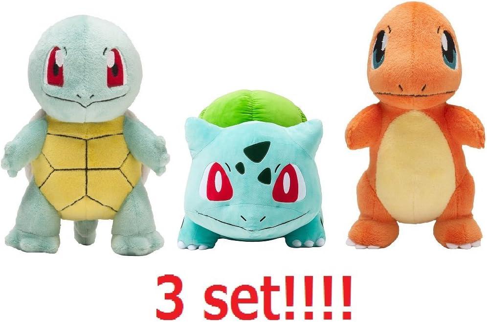 B01N8PS6IR Pokemon Center Original Plush Bulbasaur,Charmander and Squirtle set from Japan 61ivhLKYUkL