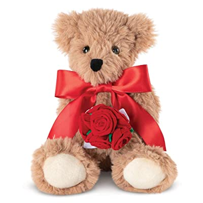 Vermont Teddy Bear Rose Bear – Soft Stuffed Animals, Gift for Her, 13 Inch: Toys & Games