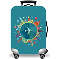 WUJIAONIAO Travel Luggage Cover Spandex Suitcase Protector Washable Baggage Covers (S (for 18-20 inch luggage), Go…